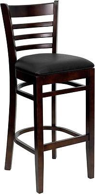 Wood Restaurant Bar Stool Ladderback Barstools Diana Stools Commercial Vinyl
