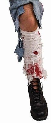 Bloody Leg Bandage Broken Wound Fancy Dress Up Halloween Adult Costume Accessory