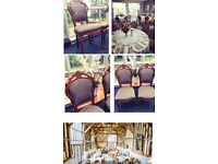 100 preloved wood framed banquet chairs,great condition