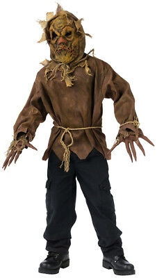 Boys Evil Scarecrow Fancy Dress Costume Deluxe Kids Halloween Scarecrow Costume (Scarecrow Kostüme Boy)