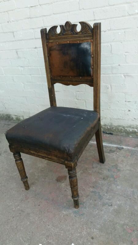 Victorian oak carved chair