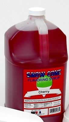 Benchmark 72002 Snow Cone Syrup - Cherry New