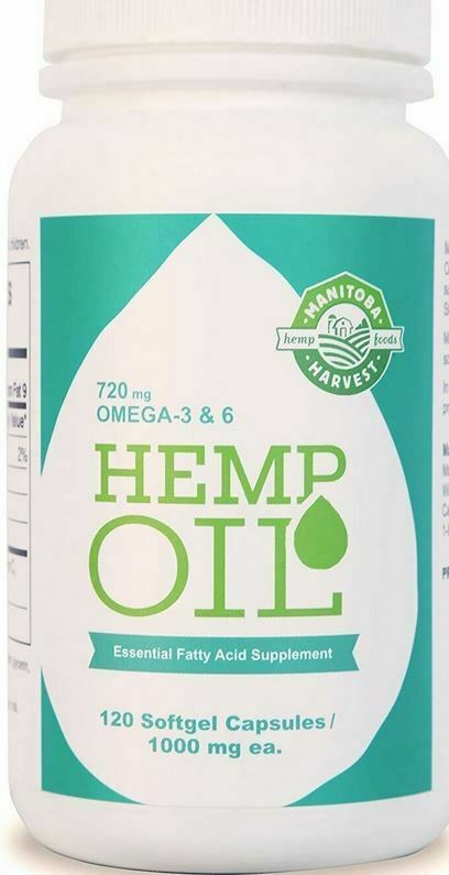 Cold Pressed HEMP SEED OIL 1000 mg  Omega 3&6 Exp.01/22