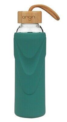 ORIGIN Best BPA-Free Borosilicate 14 oz Glass Water Bottle with Bamboo