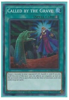 *** CALLED BY THE GRAVE *** (MINT/NM) EXFO-ENSE2 SUPER RARE YUGIOH !