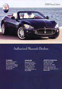 2010-Maserati-GranCabrio-water-Classic-Vintage-Advertisement-Ad-PE100