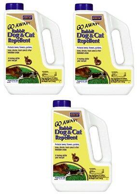 (3) ea Bonide 871 3 lb Go Away! All Natural Rabbit Dog & Cat Repellent Granules