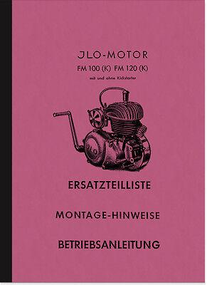 ILO FM 100 120 K Bedienungsanleitung Ersatzteilliste Reparaturanleitung Handbuch