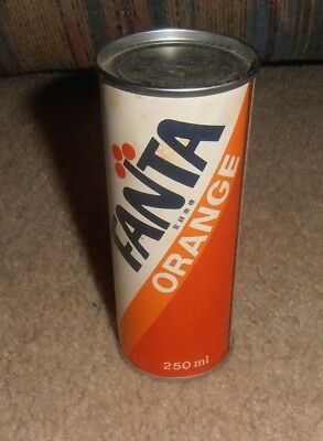 Vintage   Rare Fanta Orange Coca Cola Asian Foreign Very Old Small Can