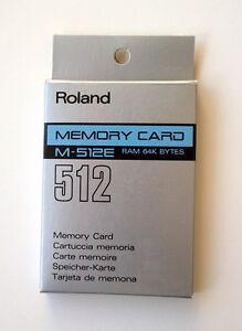 ROLAND M-512E 64K RAM MEMORY CARD NEW!!!