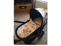 Icandy peach limeted addition full travel system with car seat and carrycot