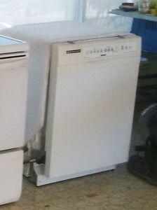 White Kenmore dishwasher