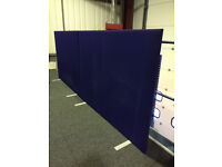 Free! 3 x Large Blue Fabric Office Partitions - Good Condition