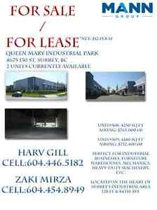 warehouse in surrey for sale/lease