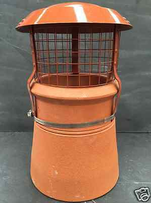 Chimney Pot Square Mesh Bird Rain Cowl Multi Fuel Strap Fix ALLOY Solid Fuel Chimney