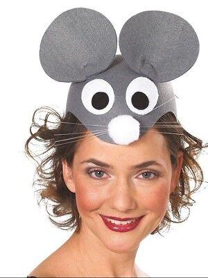 Mottoland 414384 - Mauskappe, Maus Mütze, Mauseohren in grau Kostüm Zubehör