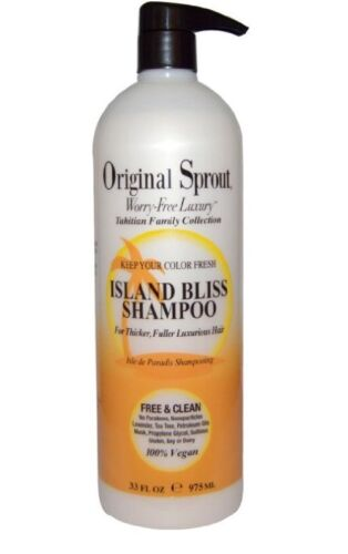 Original Sprout Island Bliss Shampoo 33 oz. Vegan Protein for color treated hair