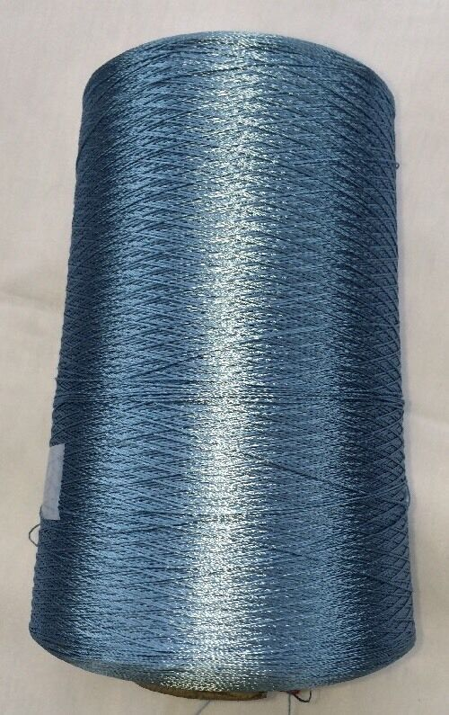 Sunray Yarn. 100 % Rayon (thin 2/3 ply) Color Lt. Blue,