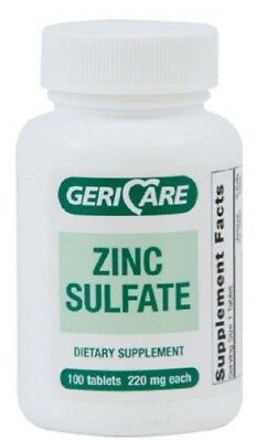 Gericare Zinc Sulfate 220mg Dietary Supplement 100ea Tablets ()