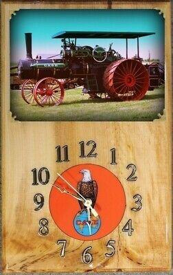 Case Steam Tractor Wood Clock -
