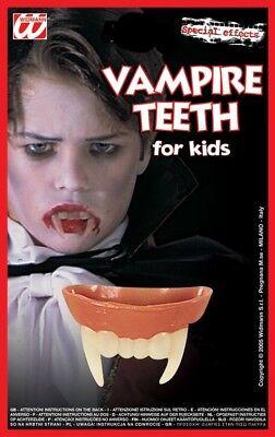 Halloween Dents Fangs Teeth Childs Kids Vampire Dracula Halloween Fancy Dress