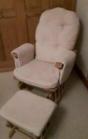 Wooden rocking nursing chair