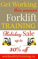 Forklift Training Programs - Holiday Sale - 30% OFF