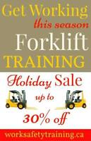 Forklift Training Programs - New or Experienced -   NOW 30%  off