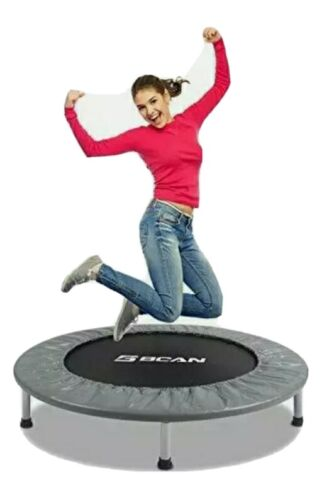"""38"""" Foldable Mini Fitness Trampoline with Safety Pad Stable"""