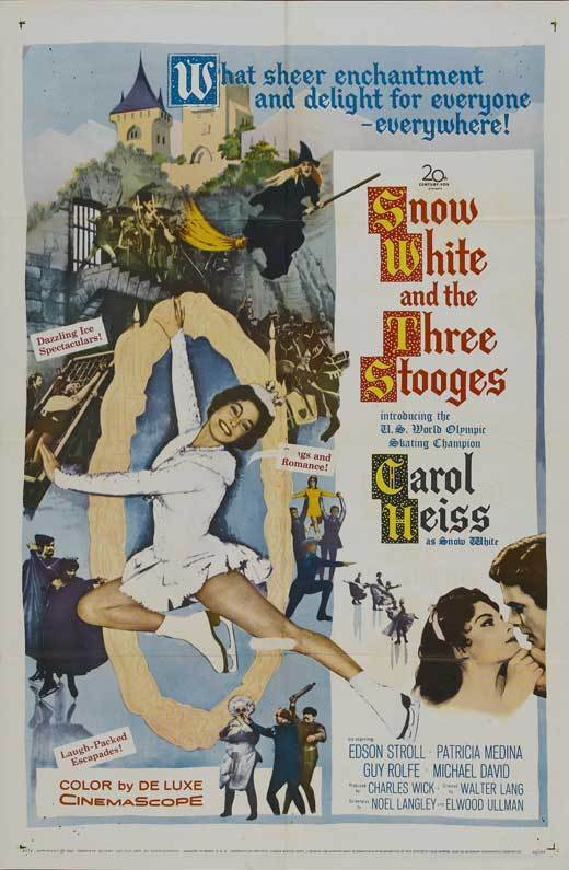 SNOW WHITE AND THE THREE STOOGES Movie POSTER 27x40 Moe Howard Larry Fine Joe