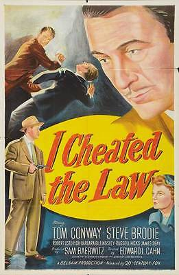 I CHEATED THE LAW Movie POSTER 27x40