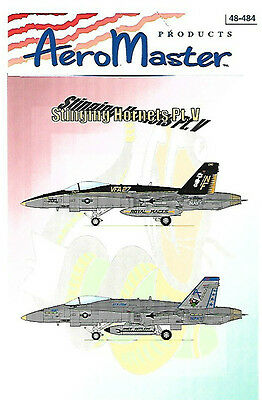 AeroMaster Stinging Hornets Part 5 Decals Hasegawa 1/48 Navy VFA-204 AN48484