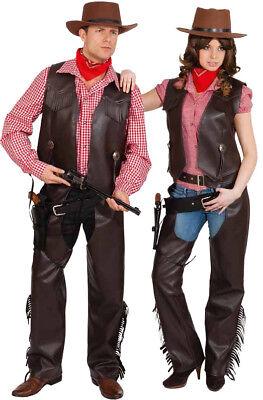 Orl - Western Damen Kostüm Cowgirl Chaps Karneval Fasching