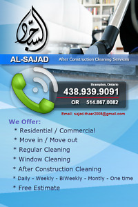 After construction cleaning services