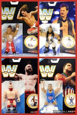 WWE COMPLETE SERIES ALL 4 RETRO APP MATTEL SERIES 7 WRESTLING ACTION FIGURE NXT