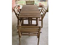IKEA Garden/ Patio Acacia Wood furniture set with four chairs
