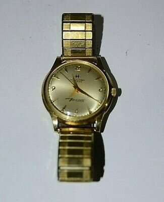 Vintage  14K GOLD Hamilton Thin-O-Matic automatic mens watch.