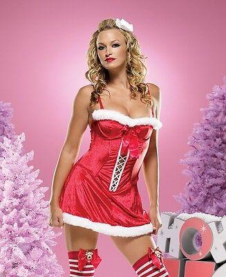 Leg Avenue Holiday Dress Plush Velvet Santa Costume - Velvet Holiday Dress Kostüme