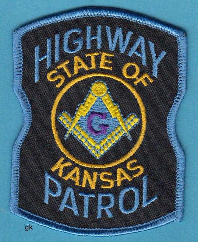 KANSAS HIGHWAY PATROL MASON MASONIC POLICE PATCH