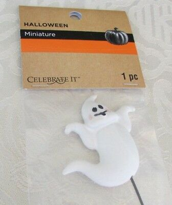 Halloween Ghost Minature Pick for Cakes, Wreaths or Tabletop Accent 7