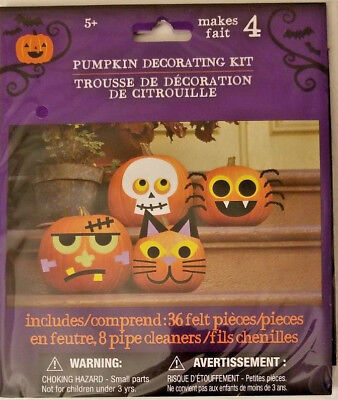 Making Paper Halloween Decorations (New Halloween Pumpkin Decorating Kit Makes 4 Includeds 36 Felt Pieces)