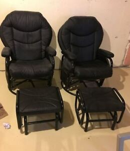 Recliners with foot rests