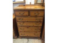 Solid pine tallboy drawers