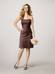 Alfred Angelo Bridesmaid Dress - Brown (Could be used as Grad)
