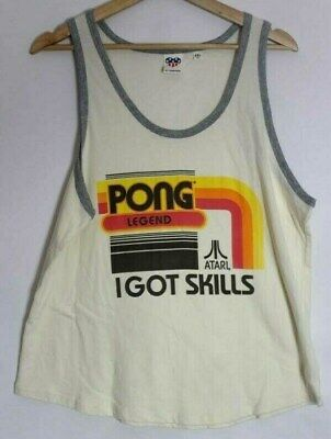 Atari Pong Legend graphic tank top size 2XL