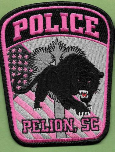 PELION SC SOUTH CAROLINA POLICE PINK PATCH FLAG TREE BLACK PANTHER (FIRE) PPD PD