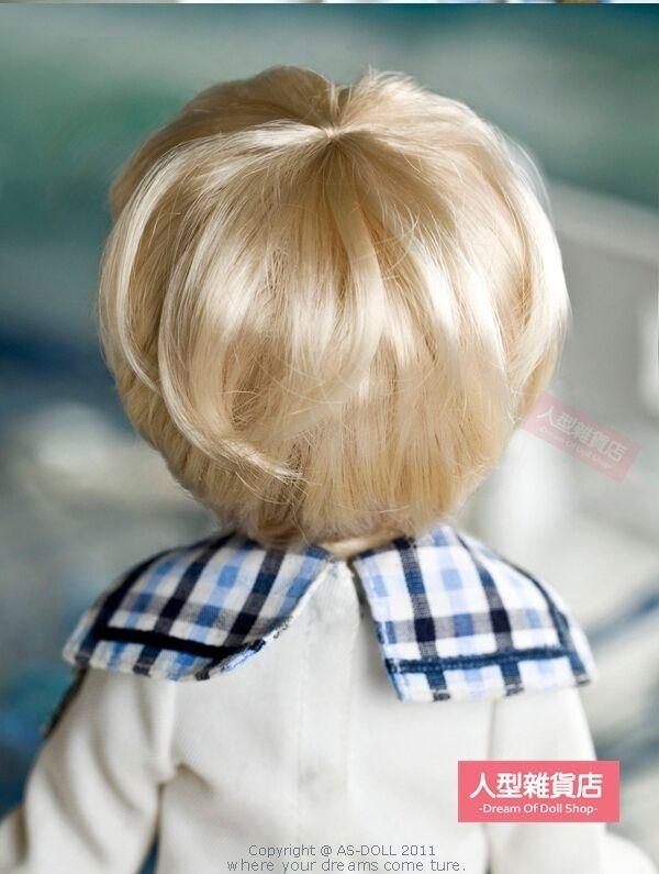 BJD Doll 1//6 6-7inch Wig Short Curly Hair Mohair For Boy Girl Blonde