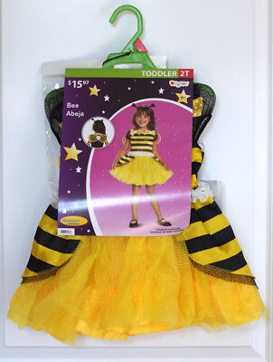 'Disguise' Bee Costume (Toddler 2T ) Dress, Wings, Headband for Dress up, Play