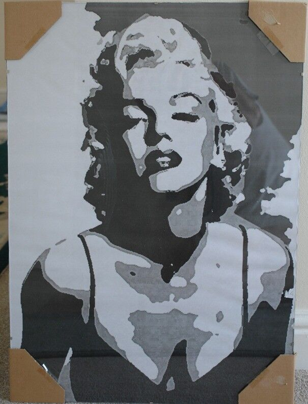 09ac63b3152c Large clip framed abstract Marilyn Monroe print