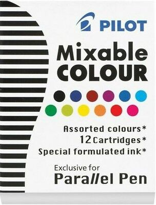 Pilot Ic-p3 Parallel Calligraphy Fountain Pen Ink Cartridges Assorted Ink